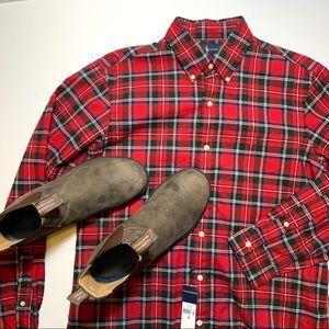 RALPH LAUREN Classic Plaid Mens Casual Shirt NWT